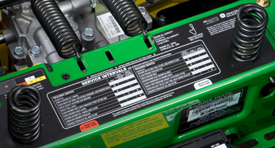 John Deere EZtrak Z425 service intervals sticker zero turn mower