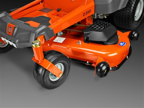 New 2015 Husqvarna Z246i zero turn mower with 46 inch reinforced steel mowing deck