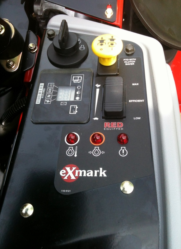 Exmark Lazer Z X-Series RED Equipped Panal