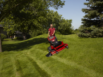 Toro Grand Strand Stand On Mower On a Slope